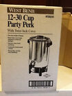 The West Bend 12 30 Cup Polished Aluminum Party Perk Coffee Maker Coffee Urn