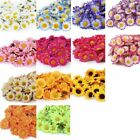 100X Artificial Silk Gerbera Flowers Daisy Sunflower Heads Wedding Pretty Decor