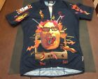 Cannondale Cycling Racing Jersey Shirt USA Headshok Fat Tire Journal Med Vintage
