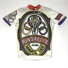 Vintage Giordana Cycling Bike Jersey PINARELLO TREVISO ITALY Synthetic L Olympic