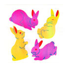 Vintage 80s Great Seven 7 PEARLY Bunnies Rabbits Sticker Mod