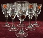 Lot of 6 Noritake CG Quartzex Etched Atomic Starburst 1 Ounce Liqueur Glasses