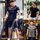 Men's Fitness Athletic Quick Drying Elastic T-shirt Gym Short Sleeve Clothing