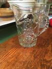 Vintage Anchor Hocking EAPC Glass Water Pitcher Star of David 54 oz