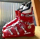Vintage early Lange Comp Ski Boots RED Classic !