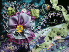 Antique vintage style Hand made crazy quilt block velvet beaded embroidered