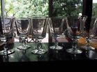 set 6 Water Goblets Glasses 6 Heavy pressed crystal glass scroll bell shaped
