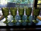 (5) WINE Goblets Glasses 5-1/2