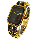 Authentic CHANEL Vintage Premiere Wristwatch Gold Quartz Swiss Made #M G03676