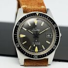 Vintage Diver TRADITION , oversize steel 37mm, blancpain style, 70's men's watch