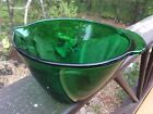 Anchor Hocking Glass Forest Green Batter Bowl 7 1/2