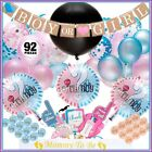 Gender Reveal Party Supplies Baby Shower Boy or Girl Reveal Kit 92 Pieces