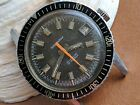 Vintage Waltham Diver Watch w/Browning Dial,Warm Patina,All SS Case,Signed Crown
