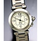 Cartier Pasha Stainless Automatic Wrist Watch with Date & Original Bracelet
