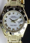 ROLEX 29mm 18kt Yellow Gold Pearlmaster Masterpiece White Roman 80318 SANT BLANC