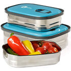 Stainless Steel Lunch Box Set of 3 Food Storage Container Leak Proof Bento Box