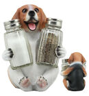 Adorable Small Hound English Tricolor Beagle Salt and Pepper Shaker Set Statue