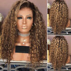 Fashion Newest Long Curly Hair Full Heat Resistant Synthetic Blonde Wigs Ombre
