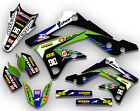 2013 2014 2015 2016 KXF 250 GRAPHICS KIT KAWASAKI KX250F RIDGELINE: BLUE/ GREEN