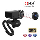 AUSDOM Full HD 1080p Webcam, OBS Live Streaming, Computer Camera with Microphone