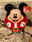 Disney Ty Mickey & Minnie Mouse Beanie Ballz Holiday Mrs. Mr. Clause Santa