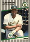 1989 Fleer Glossy BB Card #s 1-250 +Rookies (A3136) - You Pick - 10+ FREE SHIP