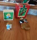 HALLMARK KEEPSAKE ORNAMENT,THIMBLE ANGEL & 3 KITTENS IN A MITTEN,YEAR 1984