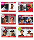 2018 TOPPS NOW TBT SET #12 1969 TOPPS ROOKIE STARS DESIGN - THEN AND NOW