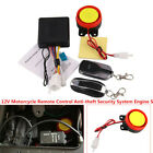 Motorcycle DC 12V Scooter Remote Control Anti-theft Security System Engine Start