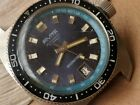 Vintage Rivita International Divers Watch w/Blue Dial,All SS Case FOR REPAIR