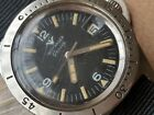 Vintage Wittnauer Geneve 4000 Diver Watch w/Mint Dial,Orange Patina,All SS Case