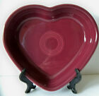 Fiesta RETIRED CLARET / NEW Unused / Medium Heart Shaped Bowl / Slight Flaw