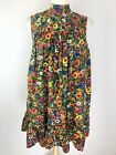 Vintage Waltah Clarkes Floral A-Line Dress Size S Sleeveless One Pocket 60s 70s