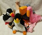 Ty Beanie Babies Exotic Birds Pinky Waddle Stretch Puffer Scoop Lot of 5