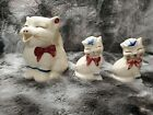 Vintage Shawnee Puss N Boots 2 Salt and pepper shakers and creamer GREAT SHAPE