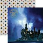 Scrapbooking Crafts 12X12 DS Paper Harry Potter Hogwarts at Night Moon Crests