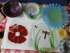 7 Fused Art Glass Plates