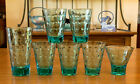 13 Pc Mixed Lot of Blue Turquoise Hazel Atlac Capri Dot 7 Glasses