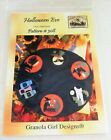 HALLOWEEN EVE Oval Tablemat Sewing Pattern FLYING WITCH Caldron BAT Potion CAT