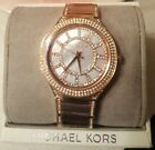 Michael Kors MK3313 Kerry Mother of Pearl Rose Gold Tone Women's Watch MSRP $275