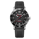 Wenger  Men's Swiss Made 01.1841.102 Roadster Black Night Silicone Strap Watch
