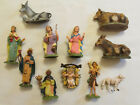 Old Vintage Depose Italy Nativity Set Lot of 12 Figurines 4 Spider Mark
