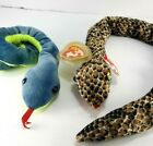 2 Ty Beanie Snake zodiac Chinese & Hissy Plush Stuffed With Tags 26