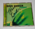 DAVE UHRICH - CHANGE SIGNED AUTOGRAPHED + FRET NO TIZED CD RARE JOE SATRIANI