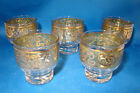 Gold Cocktail Bar Glasses Marked Set of 5 @1B