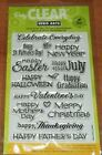 CLEAR ACRYLIC HERO ARTS STAMPS HOLIDAYS MOTHER FATHERS DAY wks CTMH blk