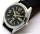CITIZEN AUTOMATIC MENS STEEL VINTAGE BLACK DIAL MADE JAPAN WATCH RUN ORDER