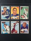 1952 Bowman Large Football Lot 1956 And 1957 Topps Football Lot. 44 Cards Total