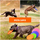 7inch Dog Frisbee Toy Soft Silicone Pet Race Training Throwing Flying Disc Toys
