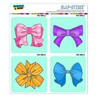 Cute Girly Ribbon Bows Set Craft Scrapbook Planner Calendar Sticker Set